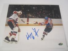 Wayne Gretzky Houston Edmonton Oilers Hand Signed autographed 8x10 AI COA