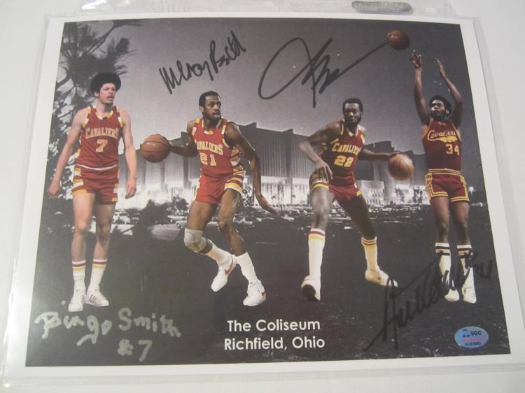Bingo Smith + 3 others Cleveland Cavaliers Hand Signed autographed 8x10 SGC COA