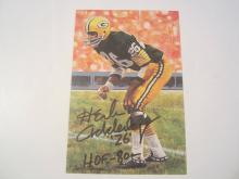 Herb Adderly Green Bay Packers HOF Signed Autographed Goal Line Art Card GA COA