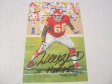 Will Shields Kansas City Chiefs HOF Signed Autographed Goal Line Art Card PAAS COA
