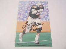 Larry Little Miami Dolphins HOF Signed Autographed Goal Line Art Card COA