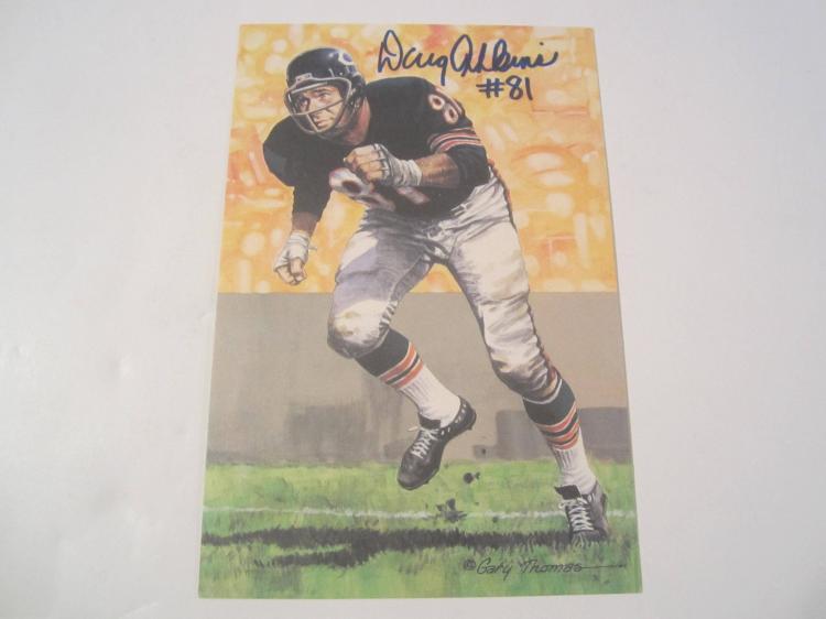 Doug Atkins Chicago Bears HOF Signed Autographed Goal Line Art Card PAAS COA