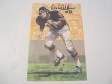 Doug Atkins Chicago Bears HOF Signed Autographed Goal Line Art Card PAAS COA