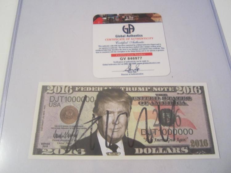 Donald Trump Hand Signed autographed Trump Bill GV COA