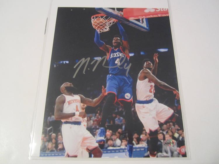 Nerlens Noel Philadelphia 76ers Hand Signed autographed 8x10 AI COA