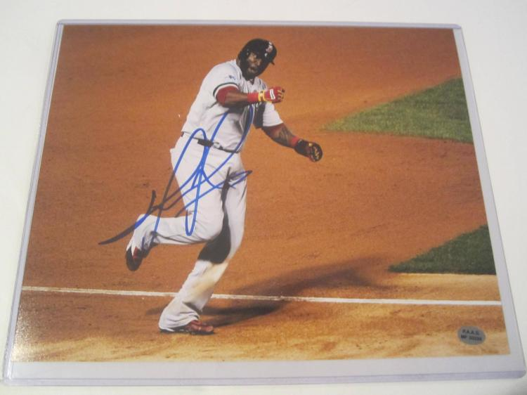 David Ortiz Boston Red Sox Hand Signed autographed 8x10 PAAS COA