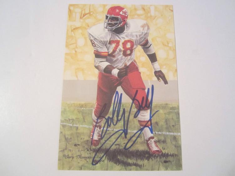 Bobby Bell Kansas City Chiefs HOF Signed Autographed Goal Line Art Card GA COA