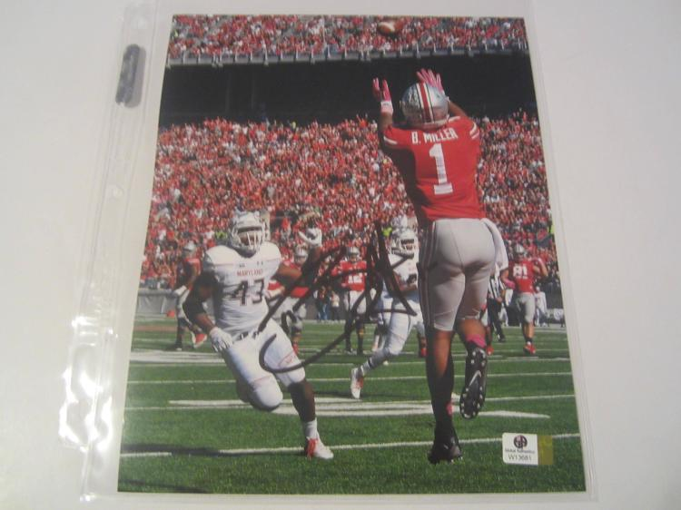 Braxton MIller Ohio State Buckeyes Hand Signed autographed 8x10  photo GAI W COA