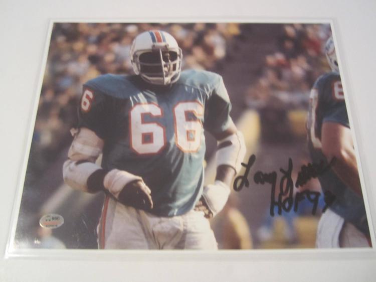 Larry Little Miami Dolphins Hand Signed autographed 8x10 SGC COA