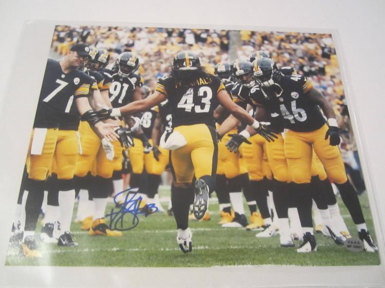 Troy Polamalu Pittsburgh Steelers Hand Signed autographed 8x10 PAAS COA