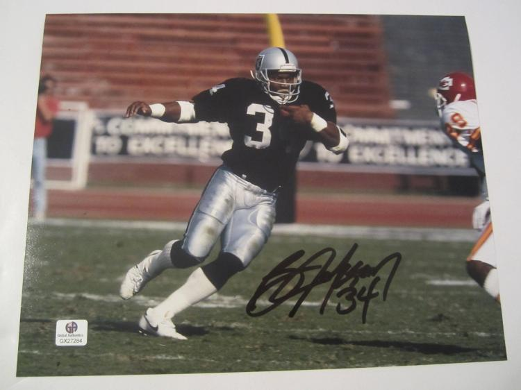 Bo Jackson Oakland Raiders Hand Signed autographed 8x10 color photo GAI GX COA