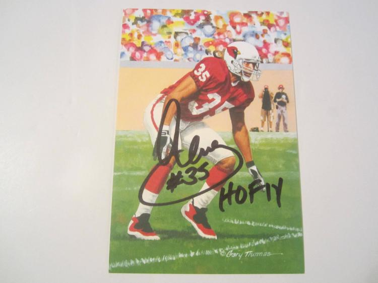 Aeneas Williams  Arizona Cardinals HOF Signed Autographed Goal Line Art Card GA COA