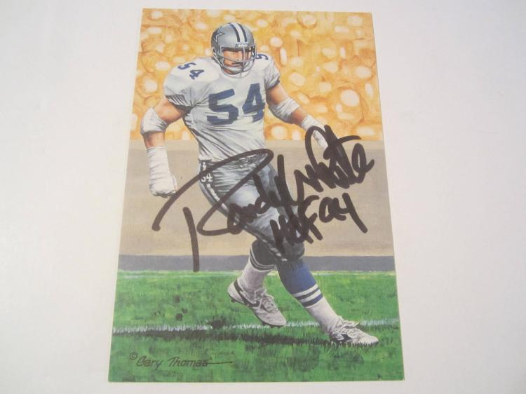 Randy White Dallas Cowboys HOF Signed Autographed Goal Line Art Card PAAS COA