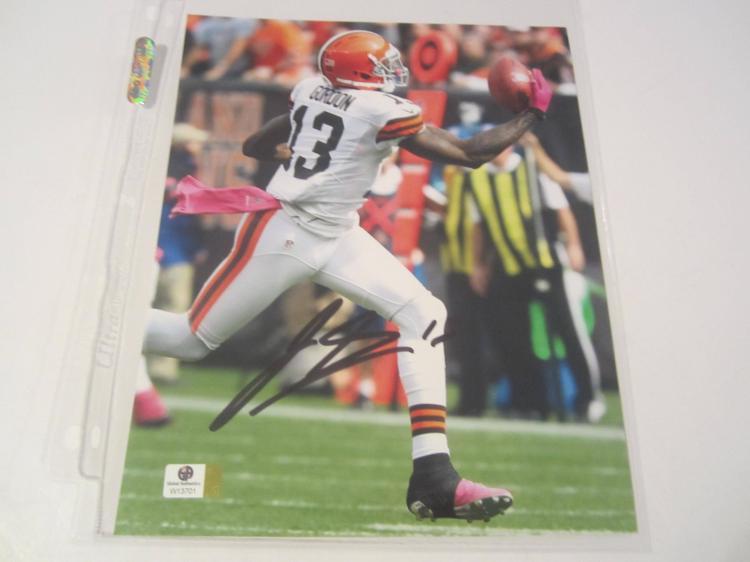 Josh Gordon Cleveland Browns Hand Signed autographed 8x10 color photo GAI W COA