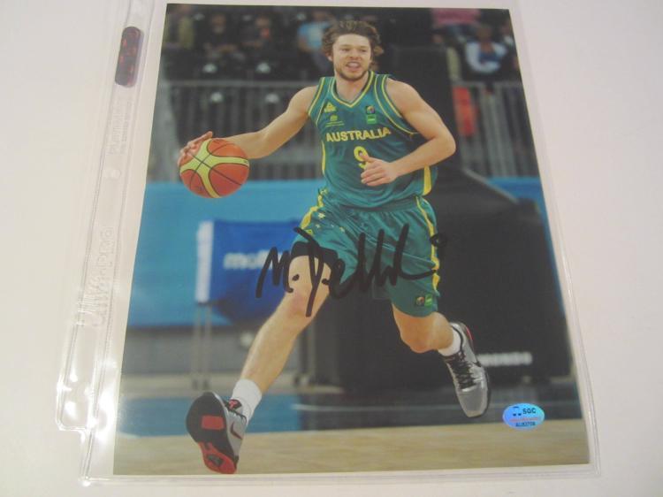 Matthew Dellavedova Mens Australian National Team Dallas Cowboys Hand Signed autographed 8x10 SGC COA