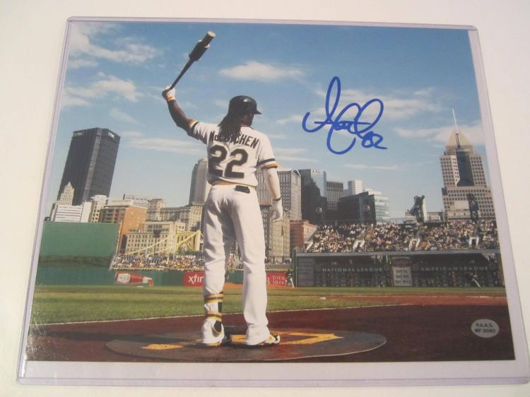 Andrew McCutchen Pittsburgh Pirates Hand Signed autographed 8x10 PAAS COA