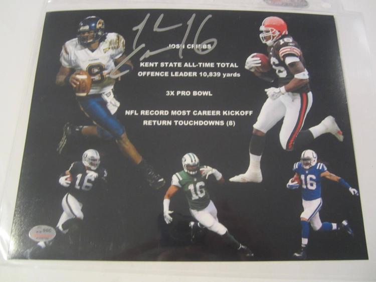 Josh Cribbs Various Teams Hand Signed autographed 8x10 SGC COA