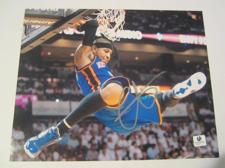 Carmelo Anthony New York Knicks Hand Signed autographed 8x10 color photo GAI GX COA