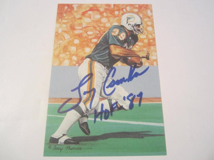 Larry Csonka Miami Dolphins HOF Signed Autographed Goal Line Art Card PAAS COA