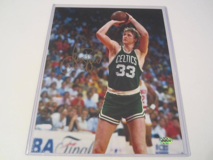 Larry Bird Boston Celtics Hand Signed autographed 8x10 AI COA