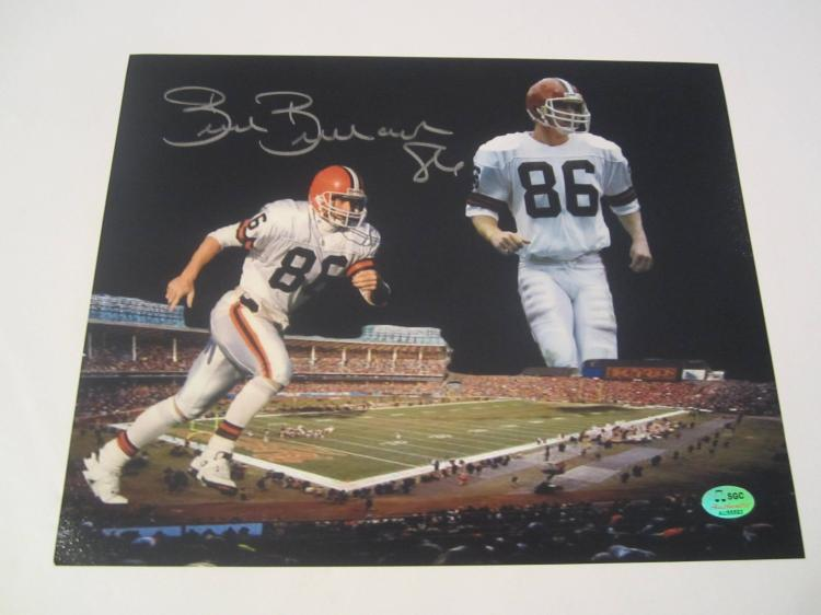 Brian Brennan Cleveland Browns Hand Signed autographed 8x10 SGC COA