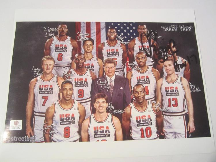 David Robinson Team USA Hand Signed autographed 8x10 color photo GAI GX COA