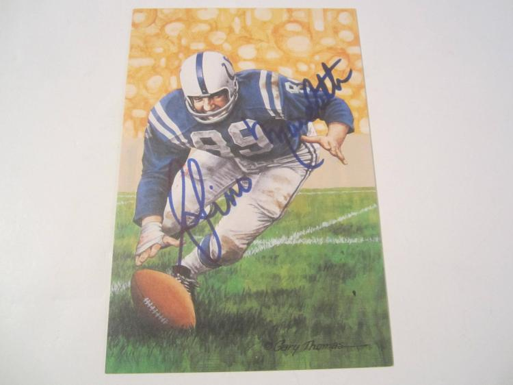 Gino Marchetti Baltimore Colts HOF Signed Autographed Goal Line Art Card PAAS COA