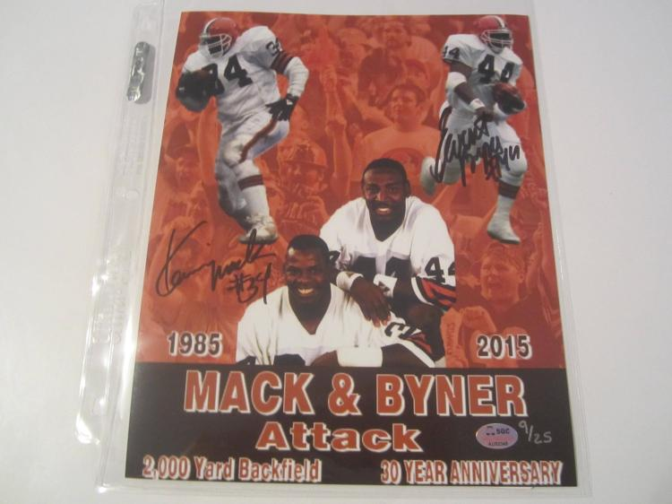 Mack and Byner Hand Signed autographed 8x10 SGC COA