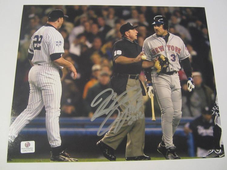 Mike Piazza New York Mets Hand Signed autographed 8x10 color photo GAI GX COA