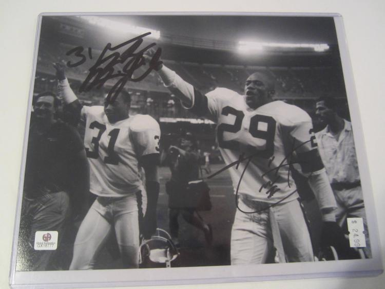 Hanford Dixon and Minnifield Cleveland Browns Hand Signed autographed 8x10 color photo GAI W COA
