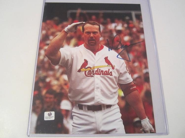Mark McGwire St. Louis Cardinals Hand Signed autographed 8x10 color photo GAI GX COA