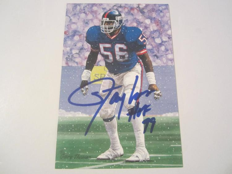 Lawrence Taylor New York Giants HOF Signed Autographed Goal Line Art Card PAAS COA