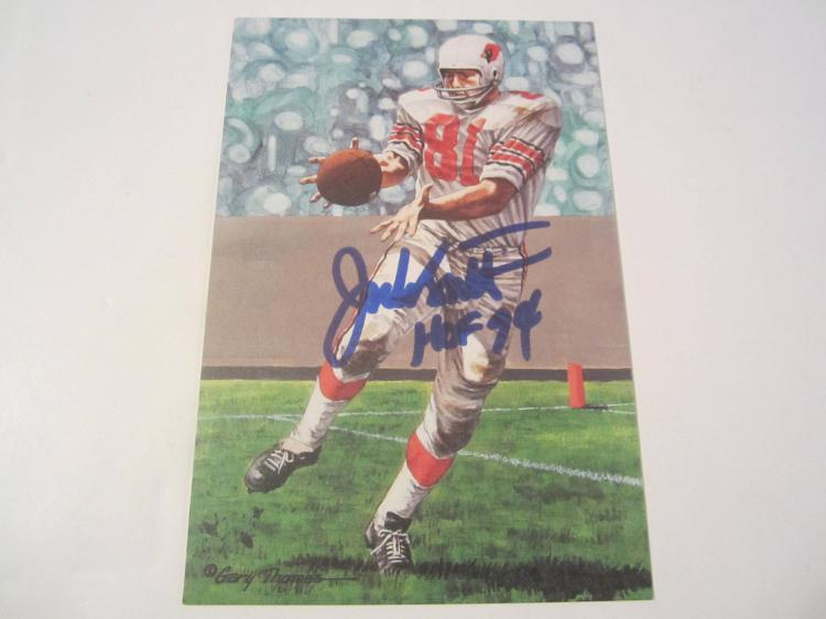Jackie Smith St Louis Cardinals HOF Signed Autographed Goal Line Art Card PAAS COA