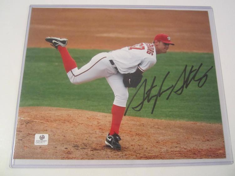 Stephen Strasburg Hand Signed autographed 8x10 color photo GAI GX COA