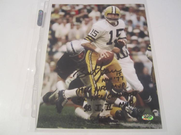 Bart Starr Green Bay Packers Hand Signed autographed 8x10 AI COA