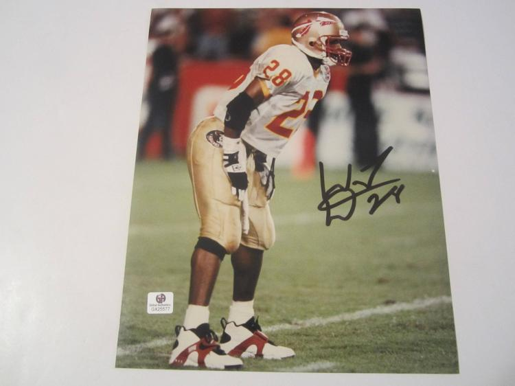 Warrick Dunn Florida State Seminoles Hand Signed autographed 8x10 color photo GAI GX COA