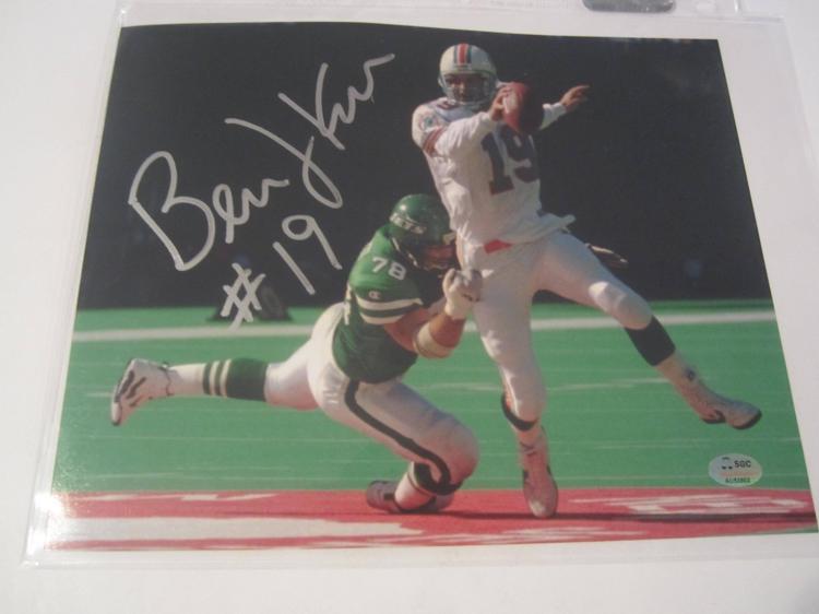 Bernie Kosar Miami Dolphins Hand Signed autographed 8x10 SGC COA
