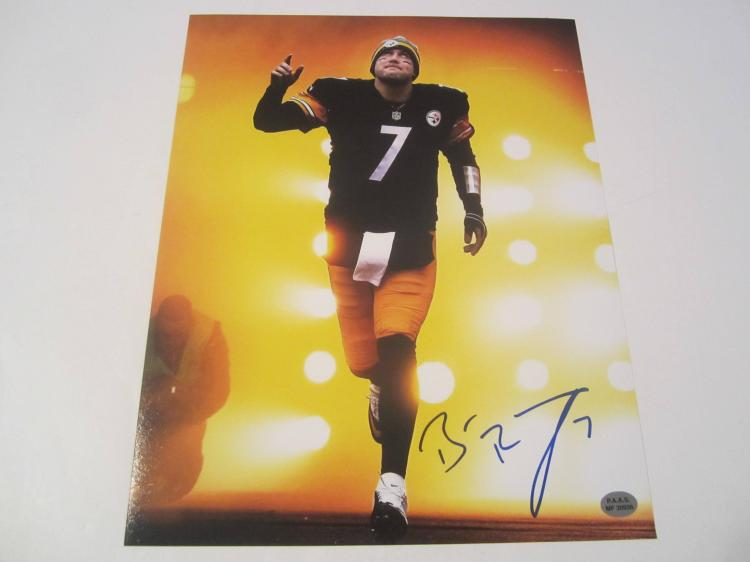 Ben Roethlisberger Pittsburgh Steelers Hand Signed autographed 8x10 PAAS COA