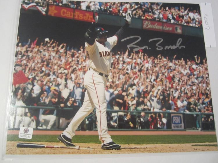 Barry Bonds San Francisco Giants Hand Signed autographed 8x10 color photo GAI GX COA