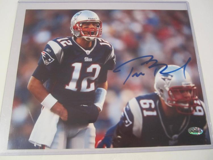 Tom Brady New England Patriots Hand Signed autographed 8x10 AI COA