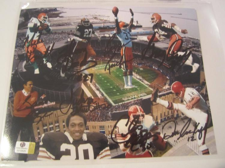 Cardiac Kids Cleveland Browns Hand Signed autographed 8x10 color photo GAI W COA