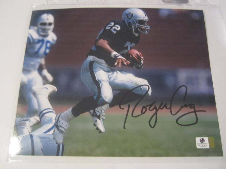 Roger Craig Oakland Raiders Hand Signed autographed 8x10 color photo GAI W COA