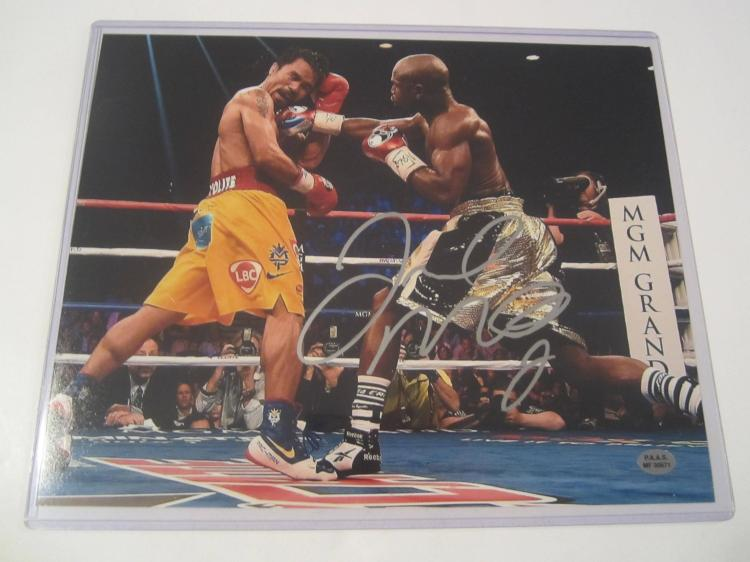 Floyd Mayweather Jr. Hand Signed autographed 8x10 PAAS COA