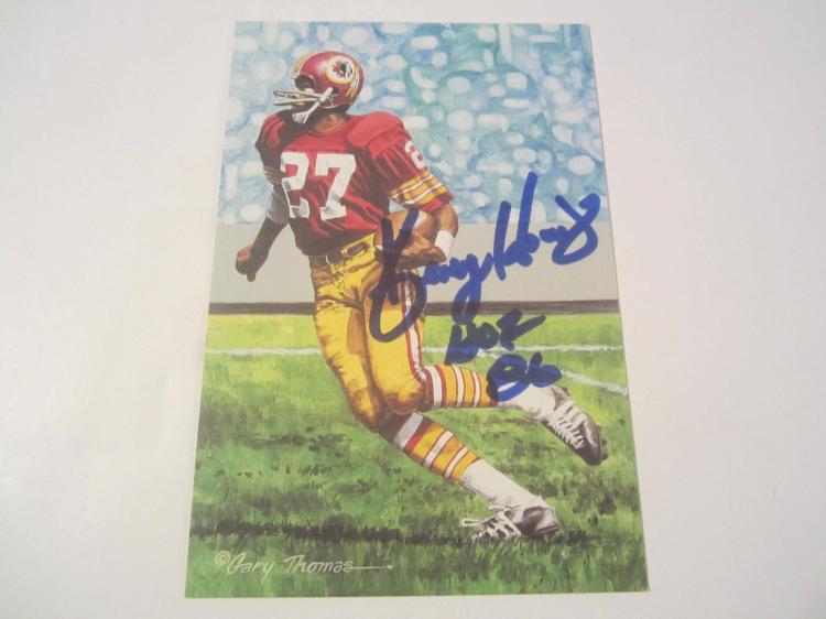 Ken Houston Washington Redskins HOF Signed Autographed Goal Line Art Card COA