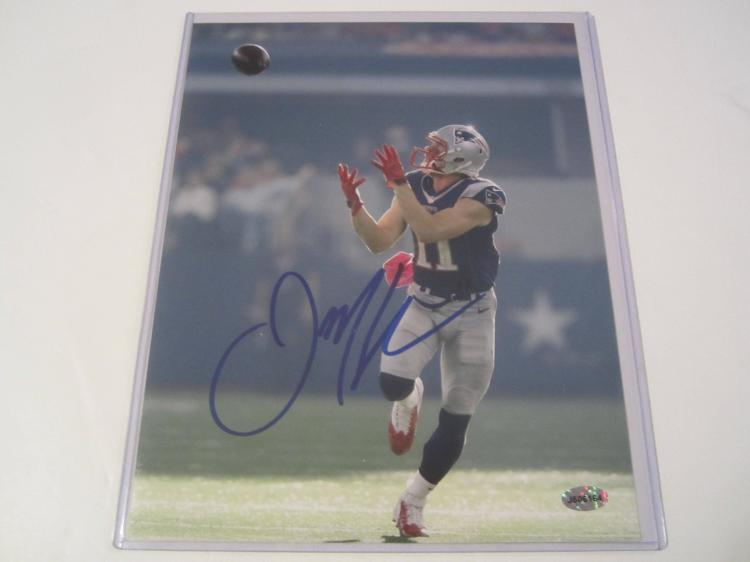 Julian Edelman New England Patriots Hand Signed autographed 8x10 AI COA
