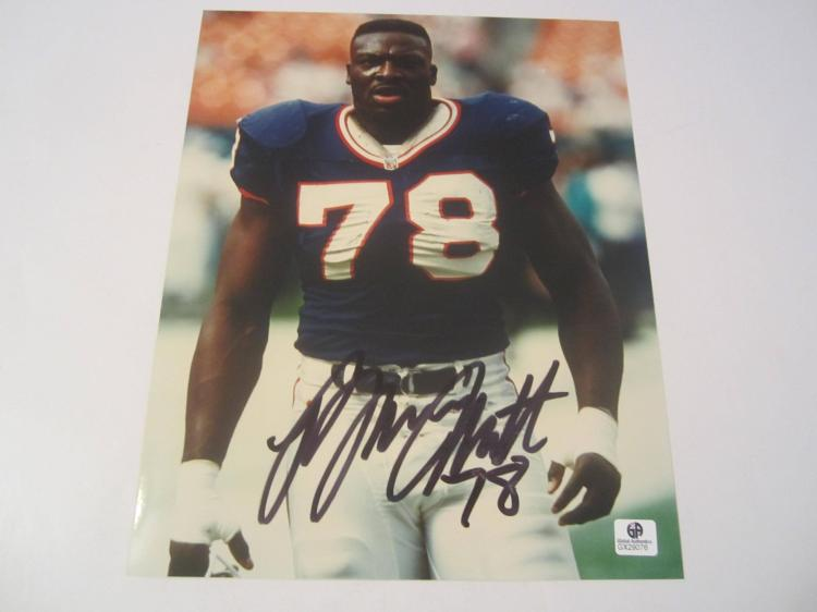 Bruce Smith Buffalo Bills Hand Signed autographed 8x10 color photo GAI GX COA