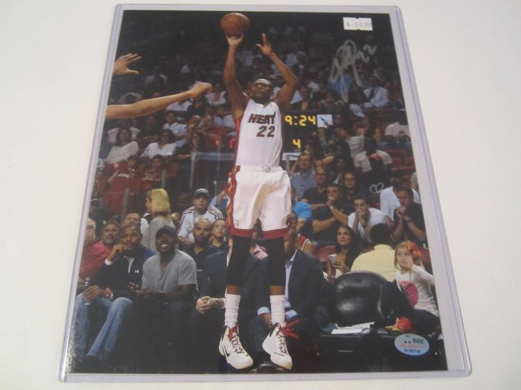 James Jones Miami Heat Hand Signed autographed 8x10 SGC COA