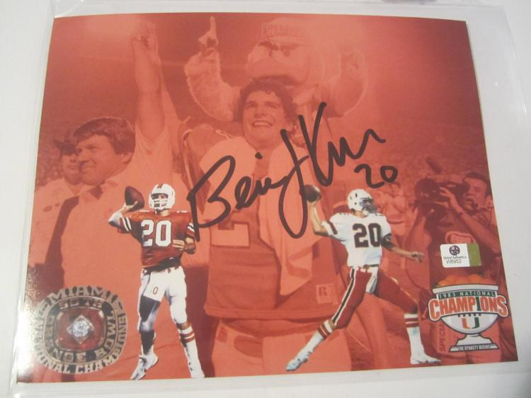 Bernie Kosar Miami Hurricanes Hand Signed autographed 8x10 color photo GAI W COA