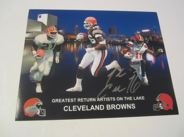 Josh Cribbs Cleveland Browns Hand Signed autographed 8x10 SGC COA