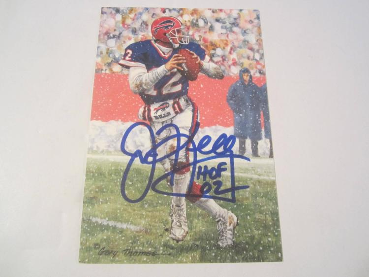 Jim Kelly Buffalo Bills HOF Signed Autographed Goal Line Art Card PAAS COA